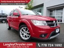 Used 2013 Dodge Journey W/ ALL-WHEEL DRIVE, SINGLE DVD ENTERTAINMENT & LEATHER UPHOLSTERY for sale in Surrey, BC