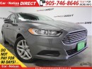 Used 2014 Ford Fusion SE| LOW KM'S| POWER DRIVERS SEAT| for sale in Burlington, ON