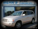 Used 2006 Toyota Highlander Loaded Leather No Accident Orig Paint New Brakes for sale in Scarborough, ON