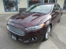 Used 2013 Ford Fusion LOADED TITANIUM EDITION 5 PASSENGER 2.0L - ECO-BOOST.. AWD.. LEATHER.. HEATED SEATS.. NAVIGATION.. POWER SUNROOF.. for sale in Bradford, ON