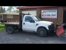 Used 2008 Ford F-350 4X4 Diesel Flat Bed With V Plow!!! for sale in Elginburg, ON