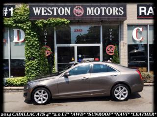 Used 2014 Cadillac ATS AWD*SUNROOF*NAVI*LEATHER for sale in York, ON