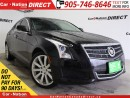 Used 2013 Cadillac ATS 2.0L Turbo| AWD| LEATHER| SUNROOF| for sale in Burlington, ON
