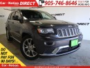 Used 2016 Jeep Grand Cherokee Summit| DUAL DVD| BLIND SPOT DETECTION for sale in Burlington, ON