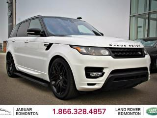 Used 2017 Land Rover Range Rover Sport 5.0L V8 Supercharged Autobiography STEALTH PACK - CPO 6yr/160000kms manufacturer warranty included until July 23, 2023! CPO rates starting at 2.9%! Local One Owner Trade In | No Accidents | 3M Protection Applied | Power Side Steps | Navigation | Sur for sale in Edmonton, AB