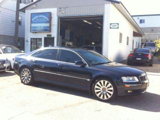 Used 2004 Audi A8 NAVI/ ADAPTIVE CRUISE/ LOADED for sale in Kitchener, ON