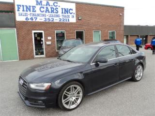 Used 2014 Audi A4 AWD -  S-LINE  - NAVIGATION for sale in North York, ON