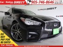 Used 2014 Infiniti Q50 Premium| NAVI| LEATHER| SUNROOF| for sale in Burlington, ON