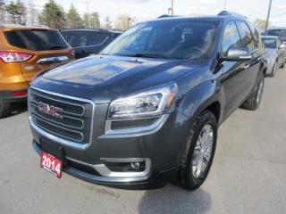 Used 2014 GMC Acadia LOADED SLT MODEL 7 PASSENGER 3.6L - V6.. CAPTAINS.. 3RD ROW.. LEATHER.. NAVIGATION.. BACK-UP CAMERA.. for sale in Bradford, ON
