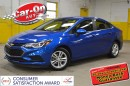 Used 2016 Chevrolet Cruze LT HEATED SEATS REMOTE START ALLOYS ONLY 17000 KM for sale in Ottawa, ON