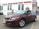 Used 2013 Honda Civic LX    1.99% FINANCING for sale in Mississauga, ON
