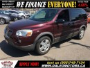Used 2008 Pontiac Montana Sv6 7 SEATER 132 KM NO CREDIT CHECK LEASES for sale in Hamilton, ON