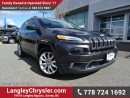 Used 2015 Jeep Cherokee Limited ACCIDENT FREE w/ LEATHER UPHOLSTERY, REAR-VIEW CAMERA & HEATED FRONT SEATS/STEERING for sale in Surrey, BC