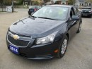 Used 2014 Chevrolet Cruze FUEL EFFICIENT 1LT MODEL 5 PASSENGER 1.4L TURBO ENGINE.. CD/AUX/USB CONNECTION.. KEYLESS ENTRY.. REMOTE START.. BLUETOOTH.. for sale in Bradford, ON