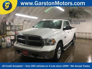 Used 2013 Dodge Ram 1500 SLT*QUAD CAB*4WD*3.6L V6*PHONE CONNECT*BACK UP CAMERA*NAVIGATION READY*SIDE STEPS*KEYLESS ENTRY w/REMOTE START*SPRAY IN BOX LINER* for sale in Cambridge, ON