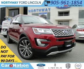 Used 2017 Ford Explorer Platinum | NAV | LEATHER | REAR CAM | PANO ROOF | for sale in Brantford, ON
