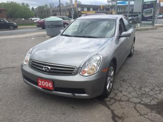 Used 2006 Infiniti G35X AWD Luxury for sale in Scarborough, ON