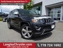 Used 2014 Jeep Grand Cherokee Limited W/ 4X4, LEATHER UPHOLSTERY & NAVIGATION for sale in Surrey, BC