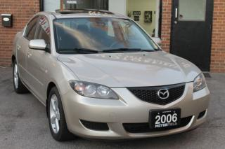 Used 2006 Mazda MAZDA3 GS *NO ACCIDENTS, CERTIFIED, SUNROOF* for sale in Scarborough, ON