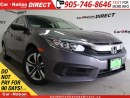 Used 2016 Honda Civic LX| BACK UP CAMERA| TOUCH SCREEN| for sale in Burlington, ON