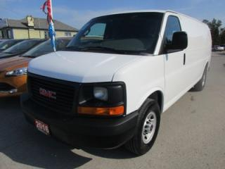 Used 2016 GMC Savana 3/4 TON 'WORK READY' 2 PASSENGER 4.8L - V8.. CARGO MOVER.. TOW SUPPORT.. AUX INPUT.. FACTORY WARRANTY.. for sale in Bradford, ON