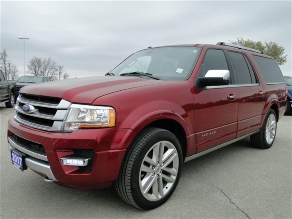 Used 2017 Ford Expedition Max Platinum 3rd Row Nav Leather For Sale In Brantford