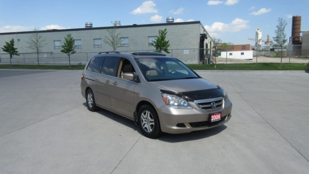 Photo of Gold 2006 Honda Odyssey EX-L, 8 passenger, Leather, Sunroof, certify, Auto