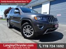 Used 2016 Jeep Grand Cherokee Limited ACCIDENT FREE w/ 4X4, LEATHER UPHOLSTERY & SUNROOF for sale in Surrey, BC