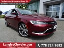 Used 2016 Chrysler 200 W/ LEATHER UPHOLSTERY, PANORAMIC SUNROOF & NAVIGATION for sale in Surrey, BC