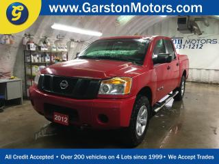 Used 2012 Nissan Titan SV*CREW CAB*4WD*5.6L V8*KEYLESS ENTRY*ALLOYS*SIDE STEPS*POWER WINDOWS/LOCKS*POWER REAR SLIDING WINDOW*TOW MODE*TRACTION CONTROL*BOX LINER*TONNEAU COVER*4x4*CRUISE CONTROL*AM/FM/CD* for sale in Cambridge, ON