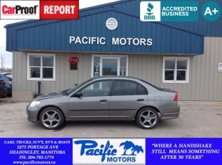 Used 2005 Honda Civic SE for sale in Headingley, MB