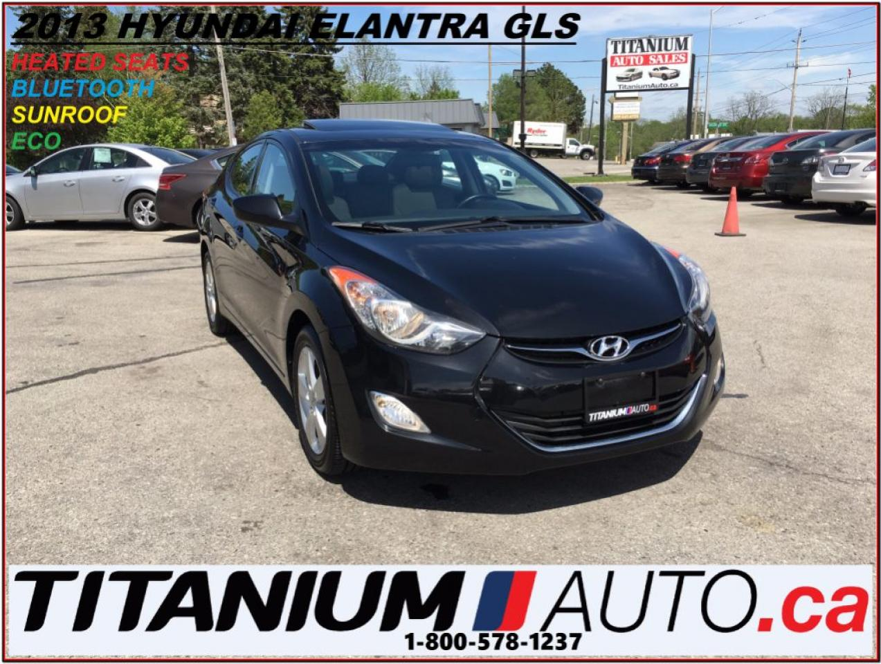 2013 Hyundai Elantra GLS+BlueTooth+Sunroof+Alloys+Heated Seats+New Tire