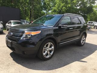 Used 2015 Ford EXPLORER LIMITED * AWD * LEATHER * FULLY LOADED * MOONROOF * NAV * REAR CAM * 7 PASS for sale in London, ON