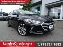 Used 2017 Hyundai Elantra GLS ACCIDENT FREE w/ POWER WINDOWS/LOCKS, REAR-VIEW CAMERA & SUNROOF for sale in Surrey, BC