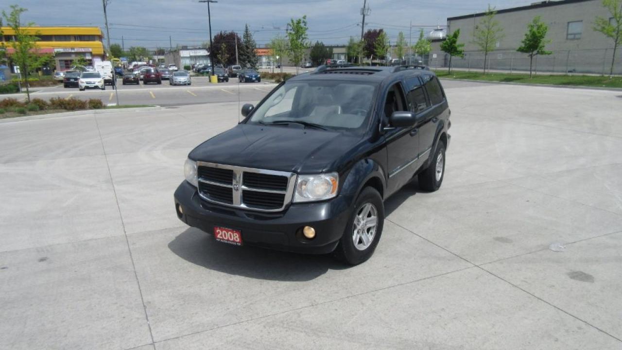 Photo of Black 2008 Dodge Durango SLT, DVD, 8 Passenger, Leather, Sunroof, Certify,