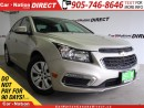 Used 2015 Chevrolet Cruze LT 1LT| BACK UP CAMERA| ONE PRICE INTEGRITY| for sale in Burlington, ON