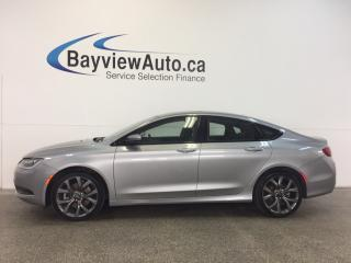 Used 2016 Chrysler 200 S- PANOROOF! HTD LTHR! NAV! REV CAM! ALPINE! for sale in Belleville, ON
