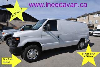 Used 2010 Ford E150 Full Shelving $500.00 Down for sale in Aurora, ON