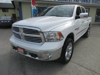 Used 2015 Dodge Ram 1500 3.0L - ECO-DIESEL LOADED BIG HORN MODEL 5 PASSENGER 4X4.. CREW.. SHORTY.. HEATED SEATS.. POWER SUNROOF.. BACK-UP CAMERA.. BLUETOOTH.. for sale in Bradford, ON