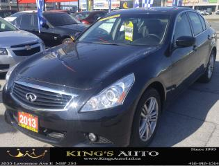 Used 2013 Infiniti G37X  AWD, NAVI, BACK-UP CAM, SUNROOF, LEATHER, LOW KM's for sale in Scarborough, ON