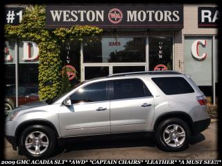 Used 2009 GMC Acadia SLT*AWD*CAPTAIN CHAIRS*LEATHER*A MUST SEE!!! for sale in York, ON