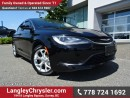 Used 2015 Chrysler 200 LX ACCIDENT FREE w/ POWER WINDOWS/LOCKS, KEYLESS GO & A/C for sale in Surrey, BC