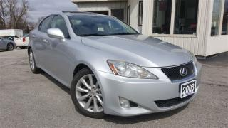 Used 2008 Lexus IS 250 Leather!sunroof! Certified & E-tested! for sale in Kitchener, ON