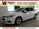 Used 2017 Chevrolet Cruze LT| BLUETOOTH| BACKUP CAM| CRUISE CONTROL| 3,588KM for sale in Kitchener, ON