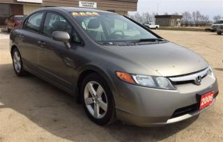 Used 2006 Honda Civic LX for sale in Brunkild, MB