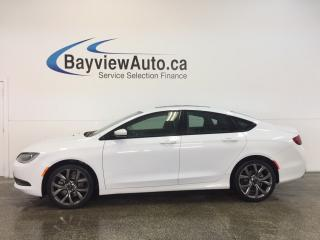 Used 2016 Chrysler 200 S- PANOROOF! REM START! LEATHER! NAV! REV CAM! for sale in Belleville, ON