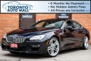 Used 2013 BMW 650i Gran Coupe M sport Pkg+Navi+360 camera+Pano Roof+Heads for sale in North York, ON