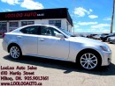 Used 2012 Lexus IS 250 Leather Sunroof Bluetooth Certified Warranty for sale in Milton, ON