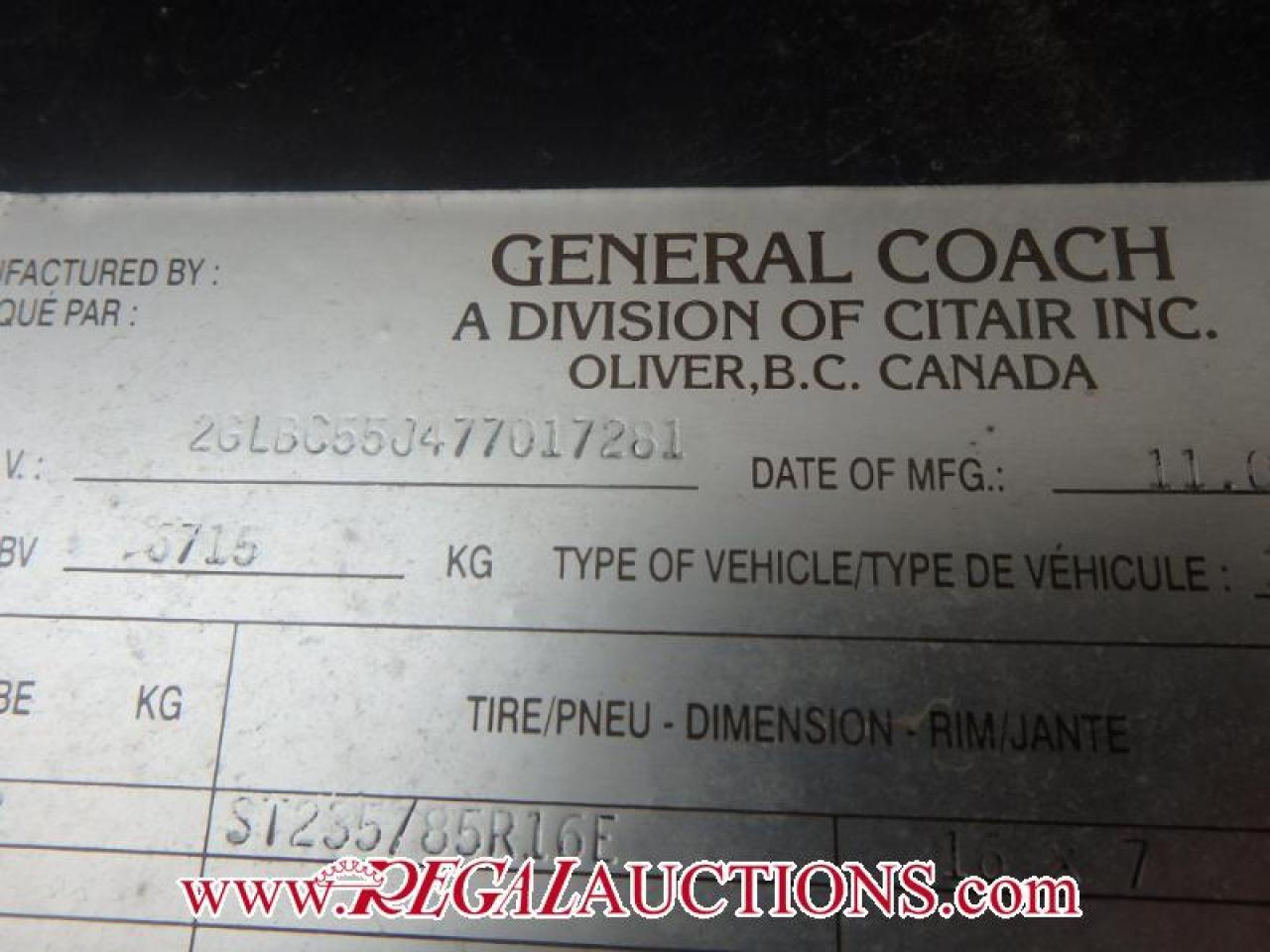 2007 General Coach CITATION SUPREME 34RLTS  FIFTH WHEEL