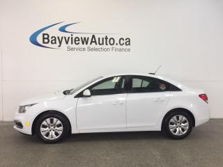 Used 2015 Chevrolet Cruze LT- TURBO! REM START! A/C! REV CAM! MY LINK! for sale in Belleville, ON